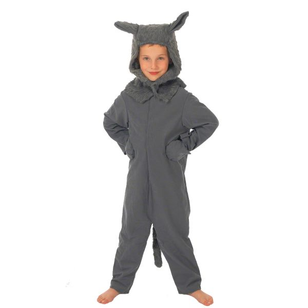 Children's Boys and Girls Big Bad Wolf Fancy Dress Up Costume